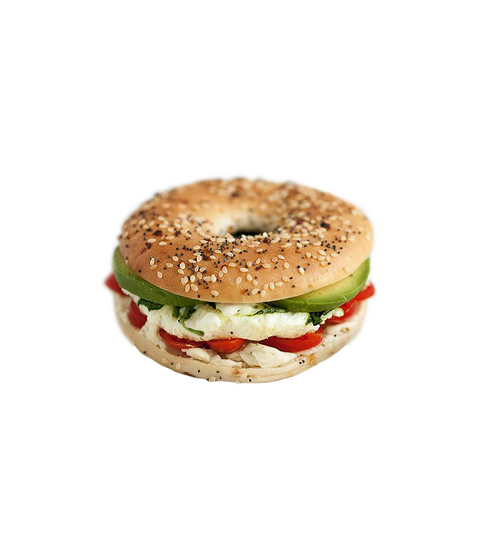 Egg, Tomato & Avocado Bagel - Pink Dot