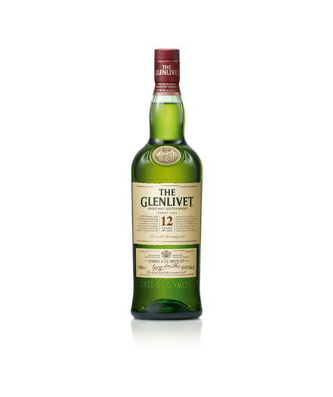 Glenlivet 12 year old scotch whiskey