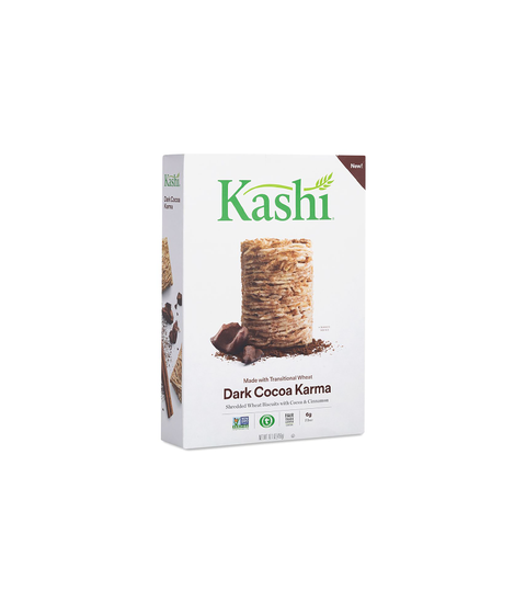 Kashi Whole Wheat Biscuits Cereal - Dark Cocoa Karma - Pink Dot