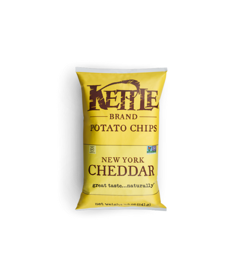 Kettle Potato Chips - New York Cheddar - Pink Dot