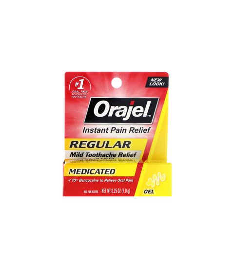 Orajel Regular Toothache Relief Gel - Pink Dot