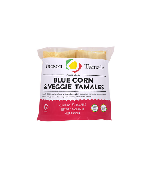 Tucson Tamales - Blue Corn And Veggie - Pink Dot