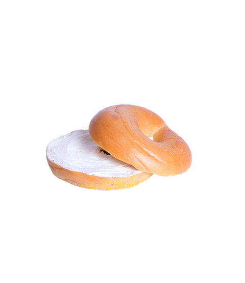 Bagel With Cream Cheese - Pink Dot