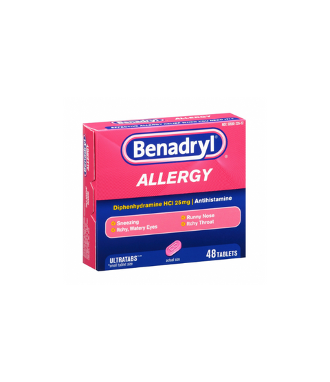 Benadryl Allergy 48 Tablets - Pink Dot