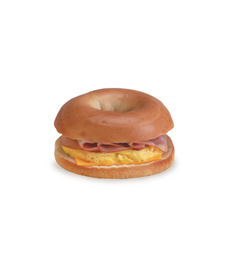 Egg, Ham & Cheese Bagel - Pink Dot