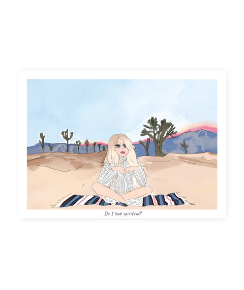 Drawlaland Postcard - Joshua Tree - Pink Dot