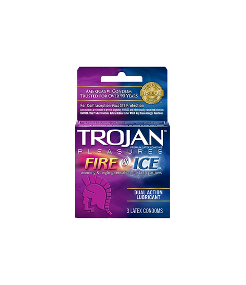 Trojan Pleasure Fire & Ice 3pk - Pink Dot