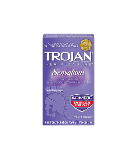 Trojan Her Pleasure Sensations 3pk - Pink Dot