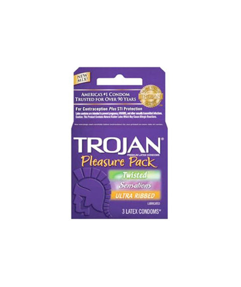 Trojan Pleasure Pack 3pk - Pink Dot