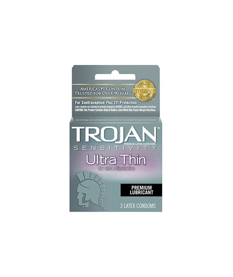 Trojan Ultra Thin 3pk - Pink Dot