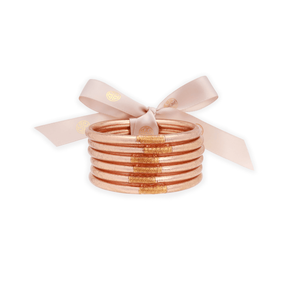 CHAMPAGNE ALL WEATHER BANGLES® (AWB®) - SERENITY PRAYER-K. Ellis Boutique