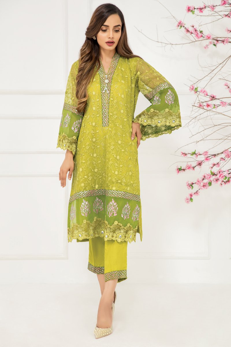 Sadia Aamir - Apple Green Chartreuse - SA-LP37