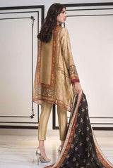 Sania Maskatiya - Brown Cotton Net Digitally Printed Shirt - PD19RG029