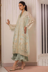Sania Maskatiya - Green Embellished Organza Jacket - PD19RG021