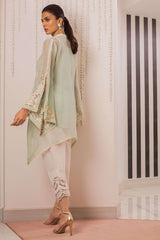 Sania Maskatiya - White Bell Sleeves Organza Woven Shirt - PD19RG033