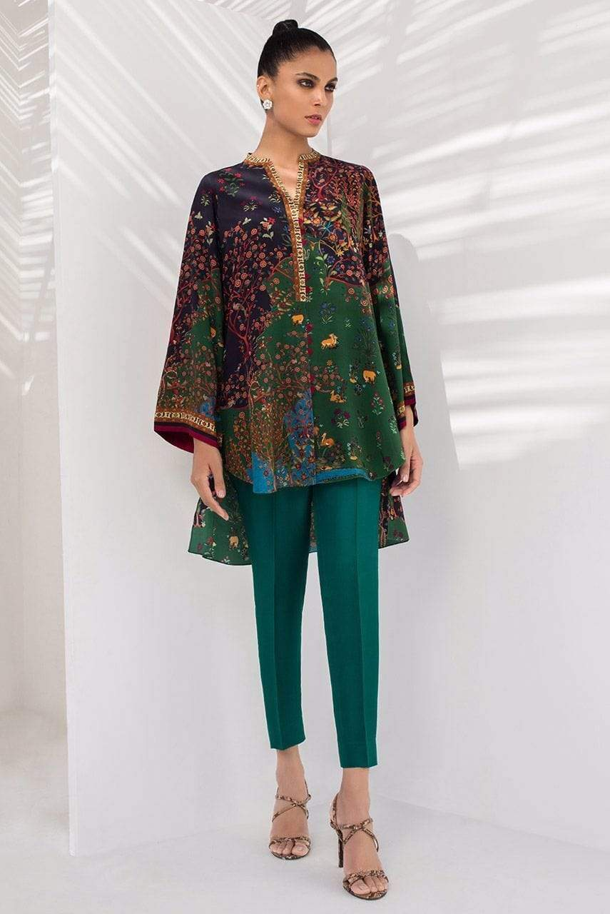 Sania Maskatiya - Green Crepe Digitally Printed Kurta - PD20RG041