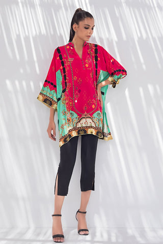 Sania Maskatiya - Red Digitally Printed Crepe Kurta - PD20RG109