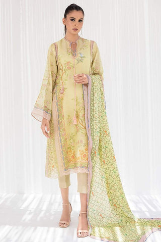 Sania Maskatiya - Green Cotton Net Printed Kurta - PD20RG114