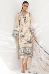 Sania Maskatiya - Crème Cotton Net Printed Kurta - PD20RG115