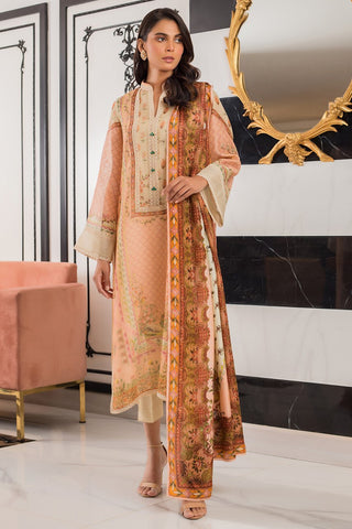 Sania Maskatiya - Cotton Net Printed Shirt - PD20RG180