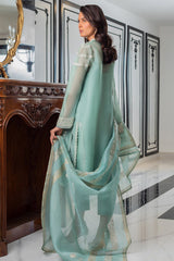 Sania Maskatiya - Sea Foam Organza Shirt - PD20RG179