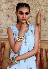 Huma Adnan - powder blue HA-285