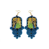 Huma Adnan - Royal Blue Earring