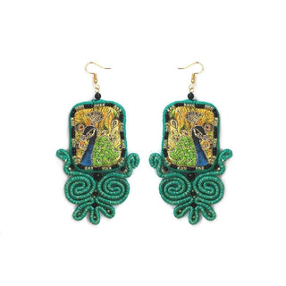 Huma Adnan - Royal Sea Green Earring