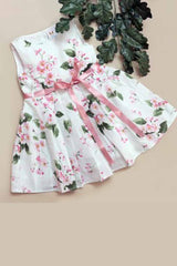 Hummingbirds - Pink & White Blossom Frock