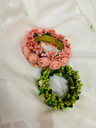 Hemos Handicraft - Green Floral bangle - 05_G_FB