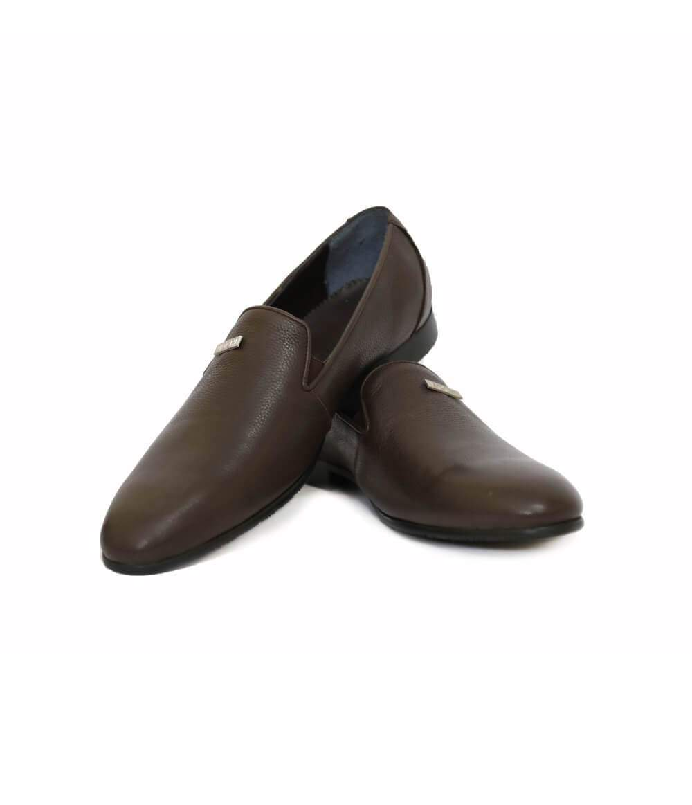 Mochi Cordwainers - Brown Florentine Slipons