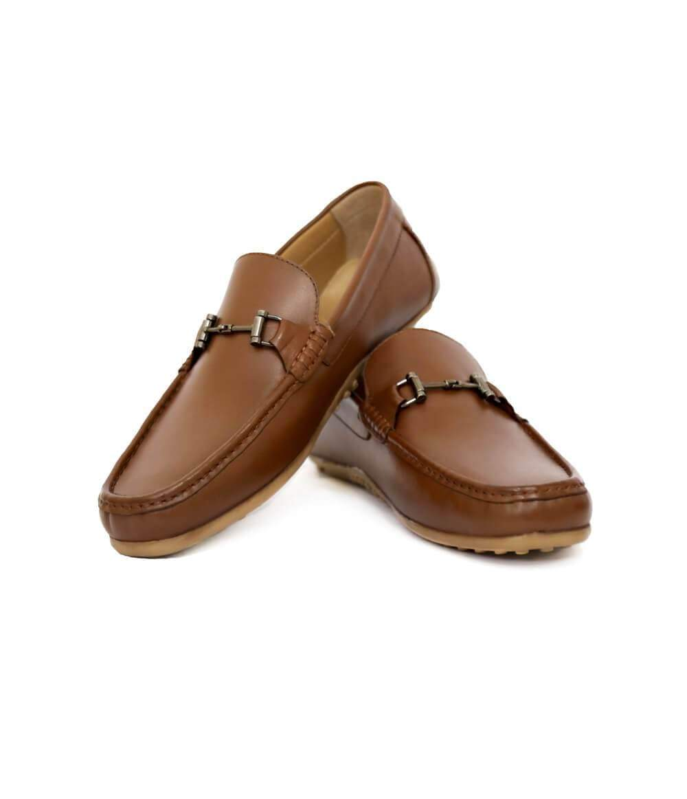 Mochi Cordwainers - Tan Driving Mocassins With Buckle