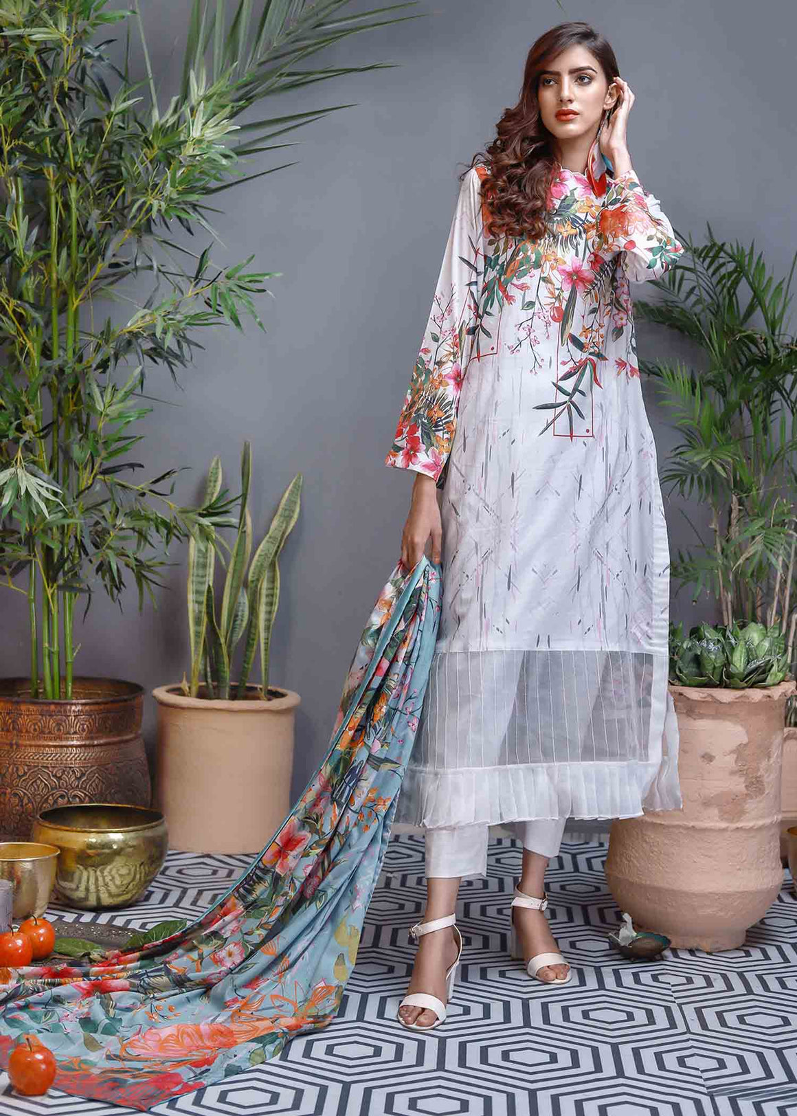 Soffio - Unstitched Lawn Collection Khwabeeda SK-099 - 2 PC
