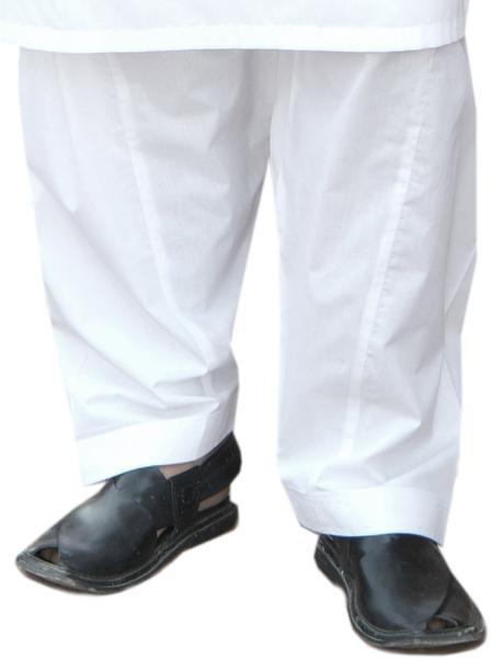 Khas Stores - White Trousers Stitched