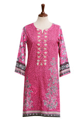 Khas Stores - Multi 1 Pcs Women Shirt  Astrd Fancy & Emb Stitched