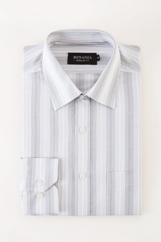 Bonanza Satrangi - Light Gray Men's Smart Shirt