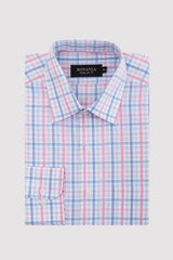 Bonanza Satrangi - Light Blue Men's Smart Shirt