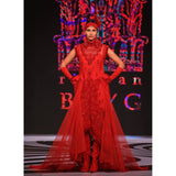 Rizwan Beyg - Short-Sleeved Gown