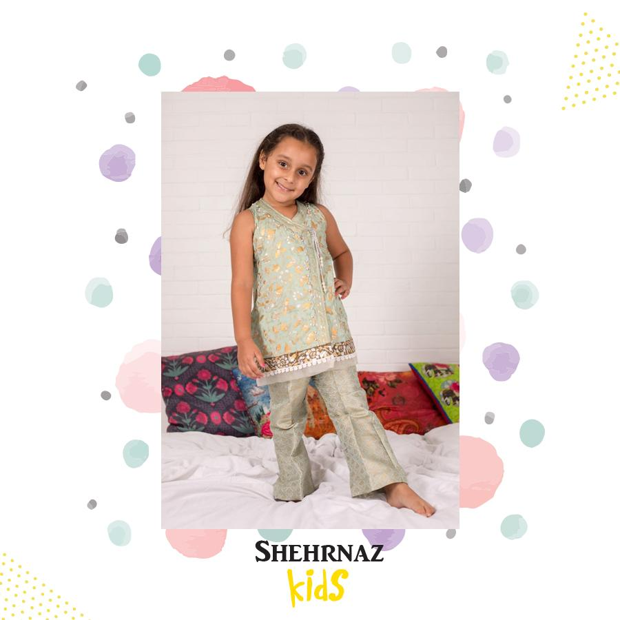 Shehrnaz - Sea Green Angarkha