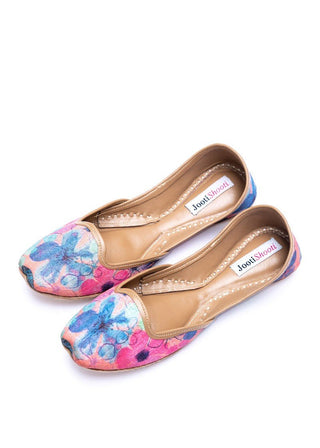 JootiShooti - Pink and Blue Tropicana Loafers