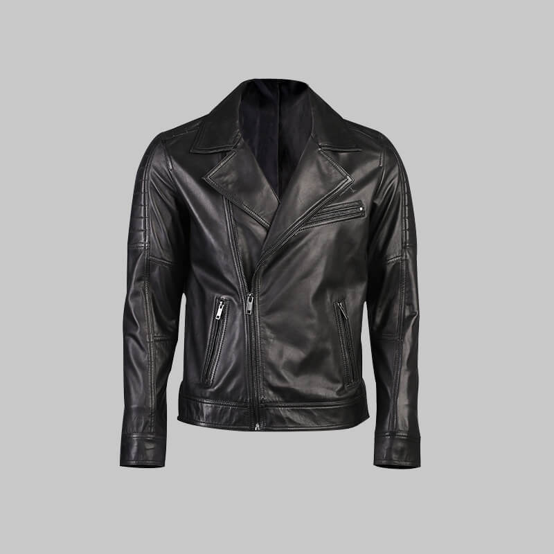 Novado - Mens Black  Leather Jacket - NMLJ-1426
