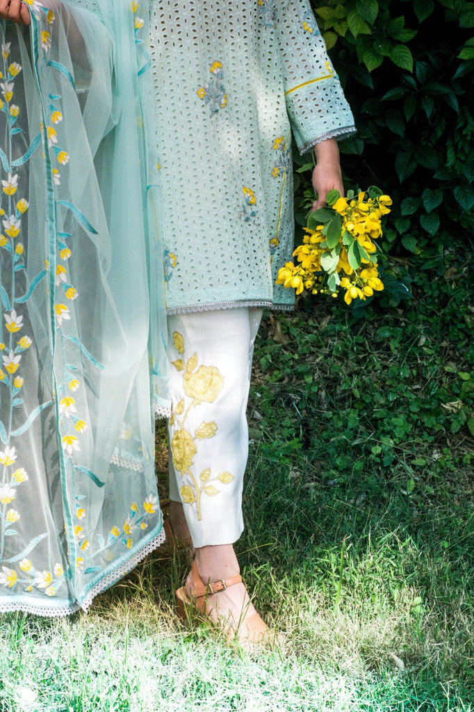 Dilaawaiz by Sahar - Light Sea Green - ENS-014