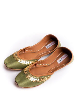 JootiShooti - Penny In Olive Green Khussa