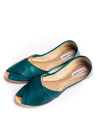 JootiShooti - Sea Green Peep Toe