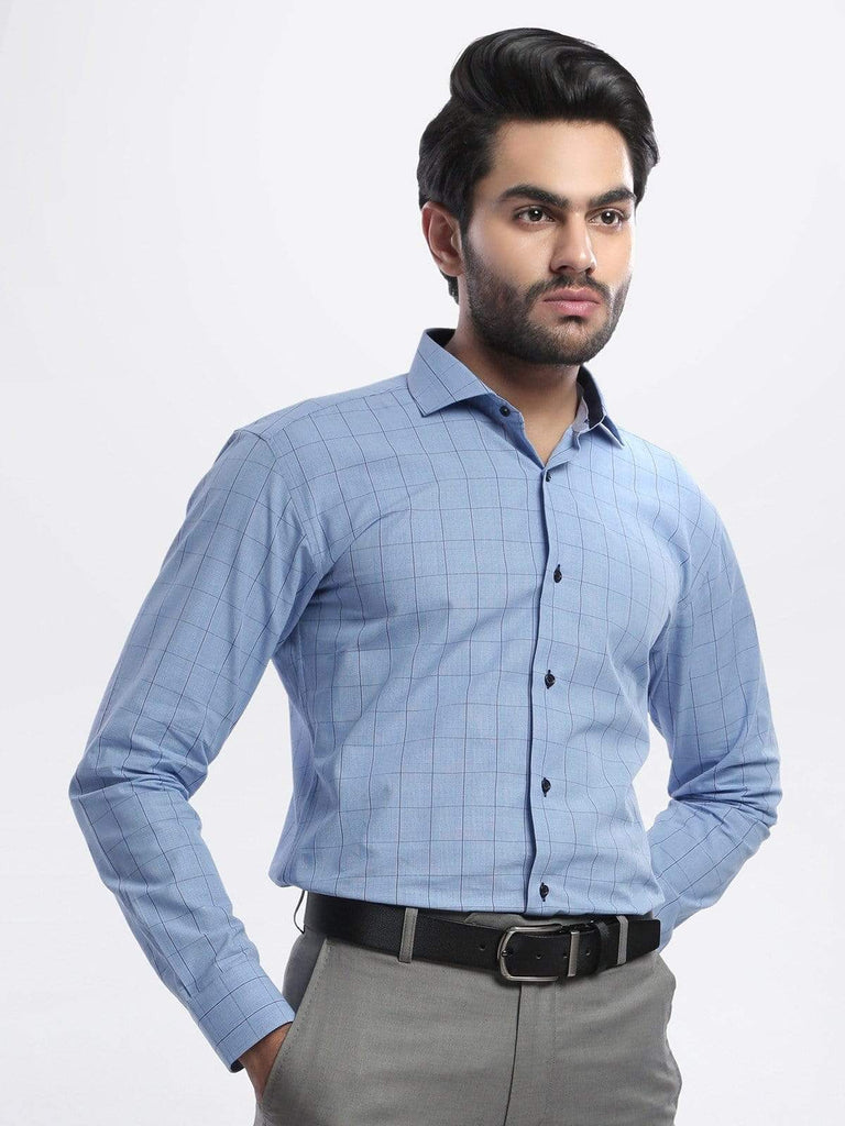 The Cress - Blue Premium Check Shirt