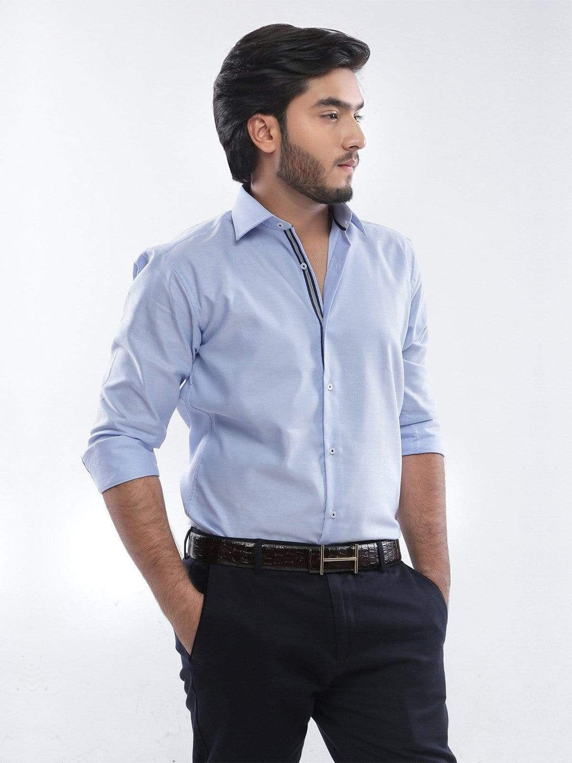 The Cress - Sky Blue Designer Formal Shirt