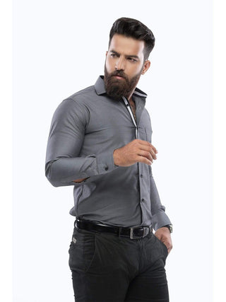The Cress - Grey Premium Designer Formal Shirt