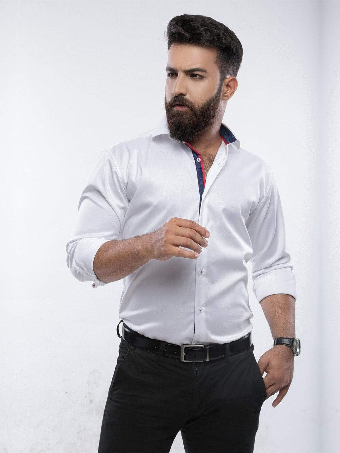 The Cress - White Designer Formal Shirt