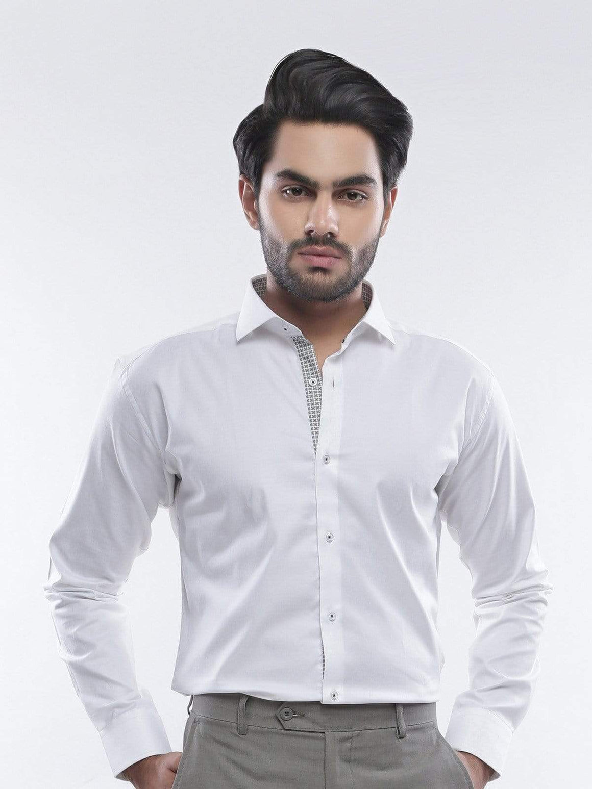 The Cress - White Semi-Formal Designer Shirt