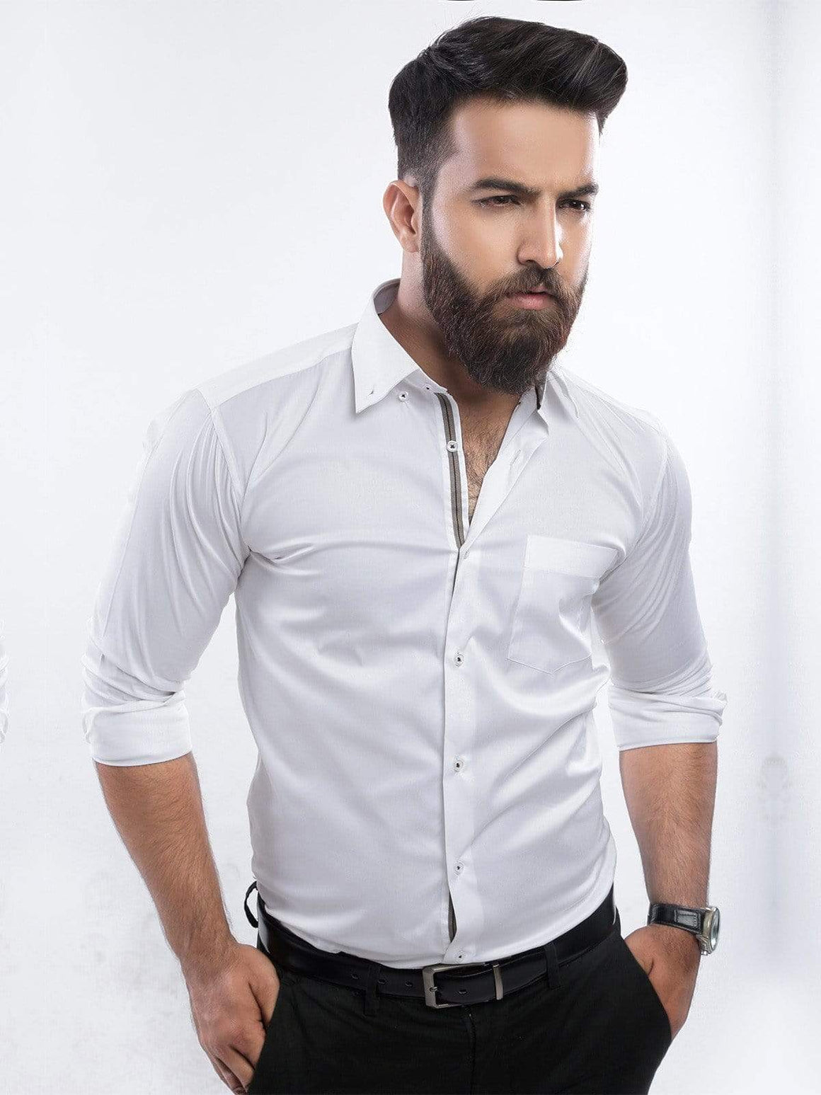 The Cress - White Button Down Collar Premium Shirt